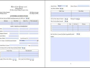 InDesign prepress and layout, interactive forms