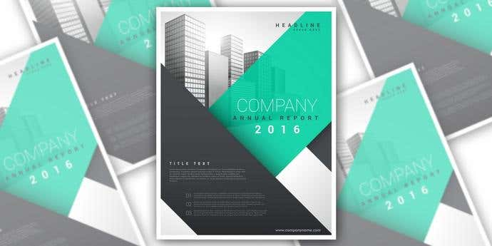 the simplicity of shapes adds the perfect professional touch to any flyer this flyer template designed through freepik and available on free vector