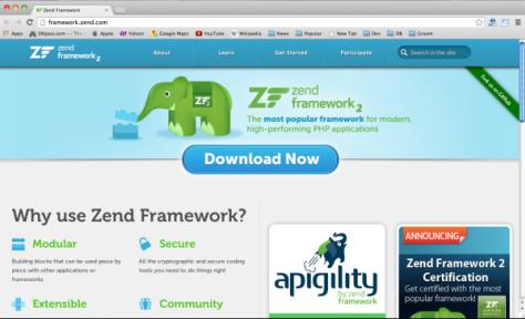 frameworks php - zendframework