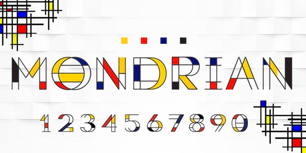 Mondrian best number font