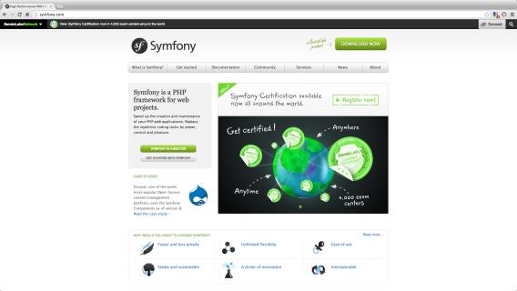 frameworks php - symfony