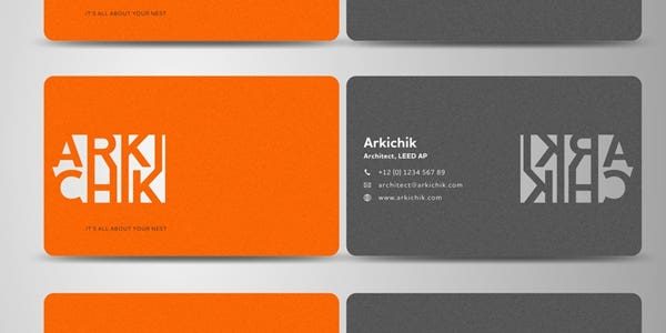Cut out design for modern business card