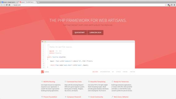 frameworks php - laravel