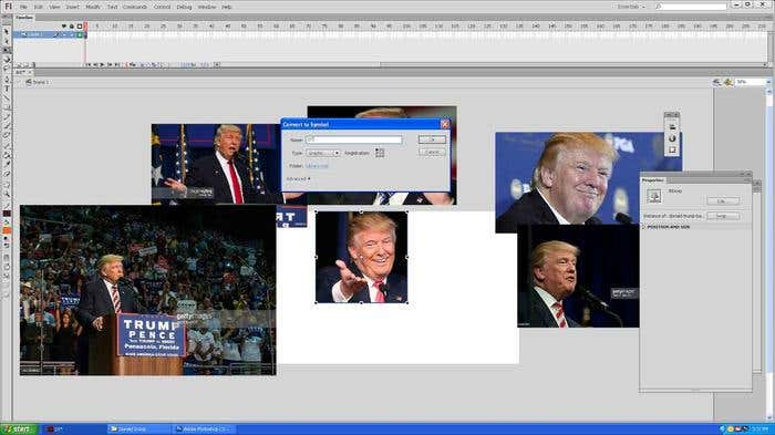 Step 2 of how to draw a caricature - choosing the right image for your Donald Trump caricature