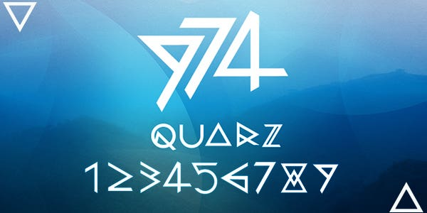 Quarz 974 best number font