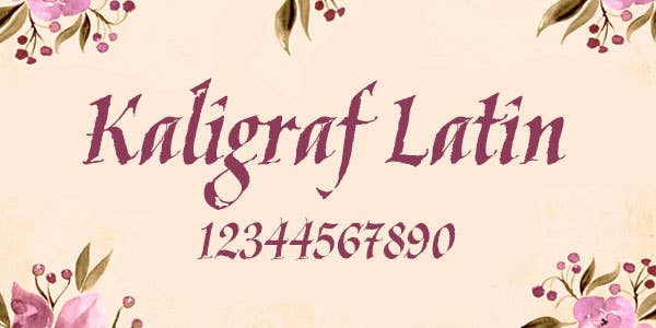 Kaligraf Latin best number font