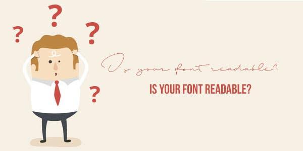 Is your cursive font readable?