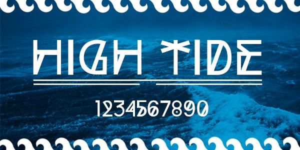 High tide best number font