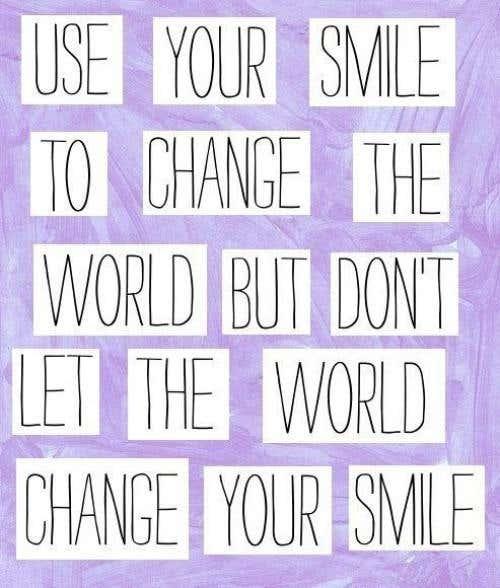 Sonrisa para cambiar el mundo