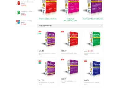 Complete online store using Magento