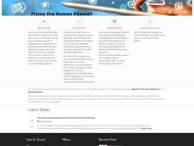 Wordpress Website made for My Australia Client  http://humanfirewall.com.au/