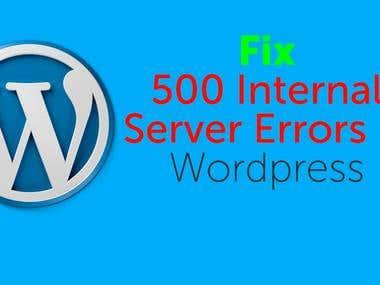 how to fix 500 error wordpress