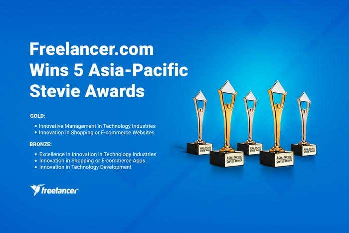 Freelancer.com Wins 5 Asia-Pacific Stevie Awards - Image 1