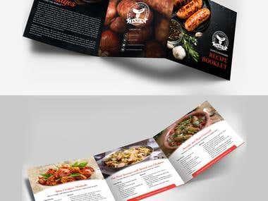 This is three fold food brochure.