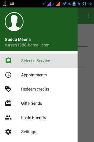 Android application to book and manage  appointments to saloon and spa.