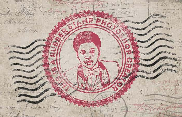 Adobe Photoshop for Creating a Rubber Stamp Effect