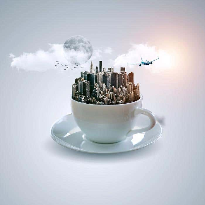 Photoshop to Create a Manipulation of Fantasy Cup Photo