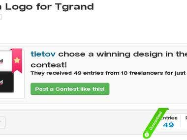 Winning Design for Tgrand Logo