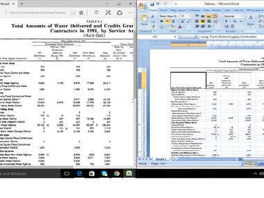 extract data from scanned pdf to excel