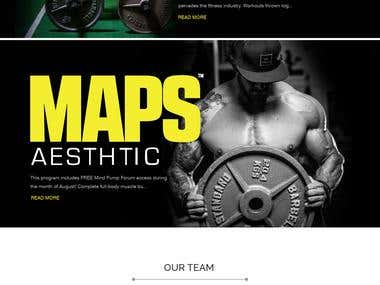 This is a web mockups of body fitness.