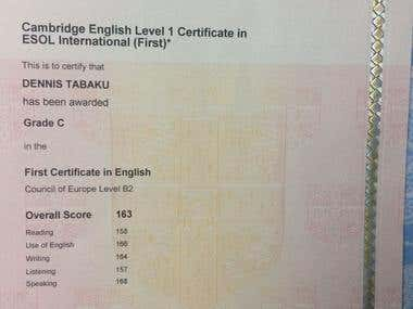 REFORMED ENTRY LEVEL CERTIFICATE IN ENGLISH