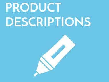 Freelance product description writing services