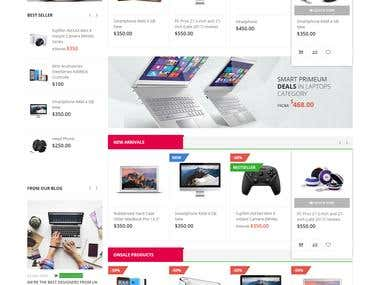 This is a Marketplace e-Commerce website for Electronic products.