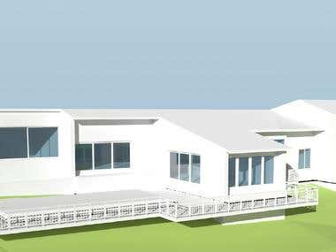 This 3D Model is completed in Vectorworks with terrain data.