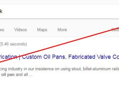 Custom oil pans rank #1 in google.com