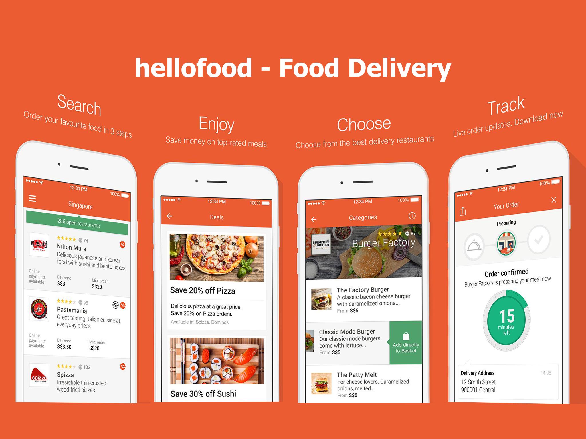 Hello Food Delivery Service App