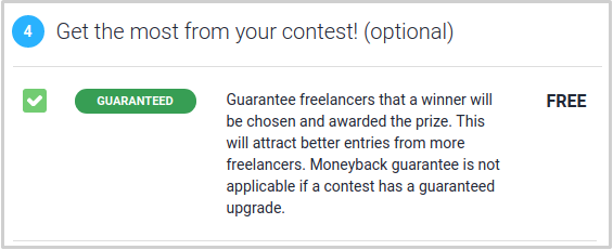 Guaranteed upgrade before posting the contest