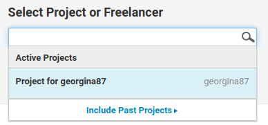 Select freelancer
