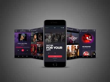 Mobile App Design - Music Streaming