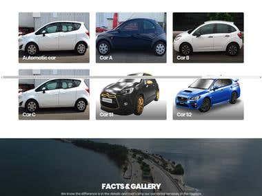 Car garage and driving multi language website.