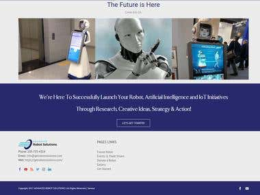 Advanced Robot Solutions Website Rebuild website URL: https://getrobotsolutions.com/
