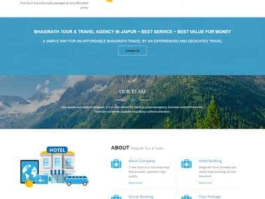 The Website is developed in WordPress and have all the functionalities which a travel website needs.
