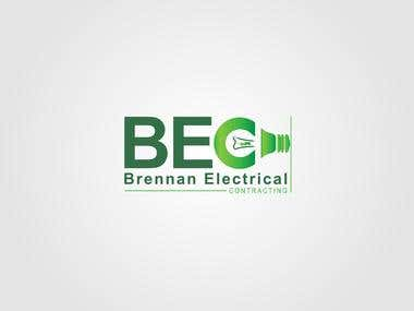 The name of the business is Brennan Electrical Contracting and we would like the initials B E C and the name Brennan Electrical Contracting in the logo