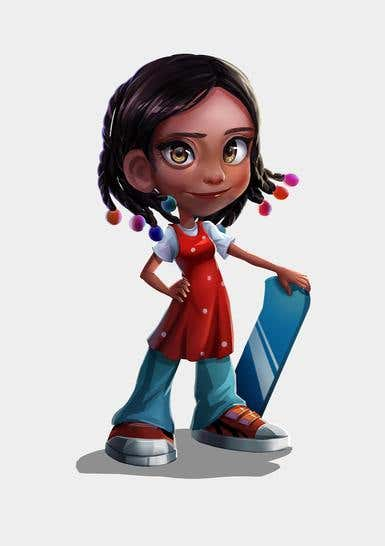 Character concept art illustration for 3d running game