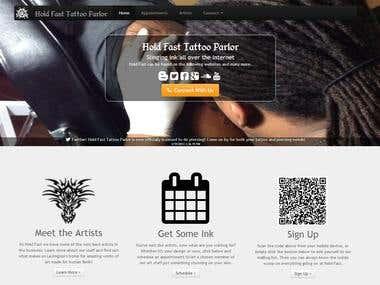 Monkeyboxtech website design developer html programmer for Hold fast tattoo