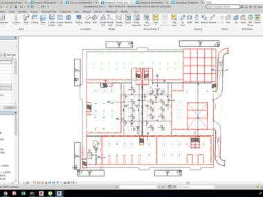 Complex school design and detailing by BIM software Total Area =  55000 m2