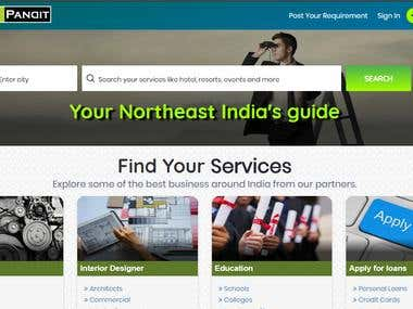 Local Pandit, India's local search engine, providing local search services and is made available on Website and Mobile.The customers arerequired to fill the requirement form what service they are looking for (e.g. restaurants, hospitals, banks etc.) and in which City.Apart from this, customers can also search company for the information of any specific business on the Website and they can contact directly to the Company.  It has different modules like Admin, Company, User etc. Each module possesses functionalities to maintain information in a very efficient manner and also has a strong reporting system.  Roles & Responsibility  Analyzing the requirements and designing modules.  Designing and developing Database, Tables and Stored Procedures.  Implementing user interface using HTML, CSS, AJAX and JavaScript  Used Validation Controls in ASP.Net for validating Front-end form.  Extensively used Data Controls like Grid Views, Detail View with sorting and paging.  De