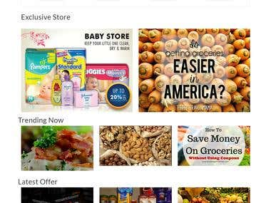 Grocery ecommerce site multi vendor