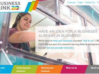 Say you've got big dreams and ideas that you want to turn into a business, but aren't quite sure how to get started. Or maybe you've taken a few steps, but don't know what's next. Where do you go? In Alberta you go to Business Link, which provides budding entrepreneurs with a wealth of information and services on starting and operating a business in Alberta. If you've got the dream, drive and passion to get started, Business Link can help you turn your idea into reality. We worked with Business Link almost 20 years ago when we were starting up Yellow Pencil, so working with them to redesign their website was like going back to our roots, you might say. Business Link, a non-profit organization funded by the provincial (Alberta) and federal (Canada) governments, has been successfully operating out of Edmonton since 1996. So helping people was not the issue – the team has that down to a science. But not everyone who could benefit from its products and services was even aware that such a r