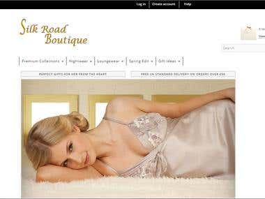 Silk Road Boutique is a premium silk product company providing elegant and luxurious 100% mulberry silk sleepwear and loungewear. At Silk Road Boutique, we are devoted to provide only the best quality silk sleepwear and loungewear to fashion the lush indulgence, supreme comfort and sophisticated sensuality of your life. The project was delivered successfully and the service has received positive feedback from both the client and the end users. In a feedback survey most of the end users gave the service good or excellent grade.