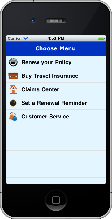 This application provides various kinds of insurance to the user like, - Health Insurance - Auto Insurance - Travel Insurance