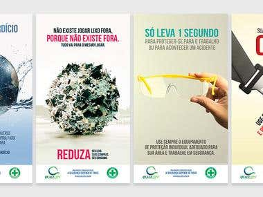 Some visual identities for brazilians corporations.