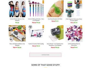Drop Shipping Shopify Store Using Ali express, Ebay, Oberlo, Amazon store.