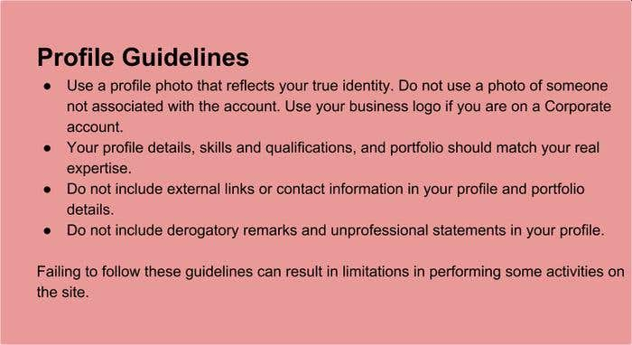 Profile Guidelines