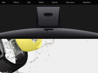 An eccommerce store to sell Apple products. With a special page contaning a complete Mac emulator.