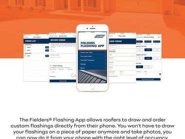 The Fielders® Flashing App allows roofers to draw and order custom flashings directly from their phone. You won't have to draw your flashings on a piece of paper anymore and take photos, you can now do it from your phone with the right level of accuracy
